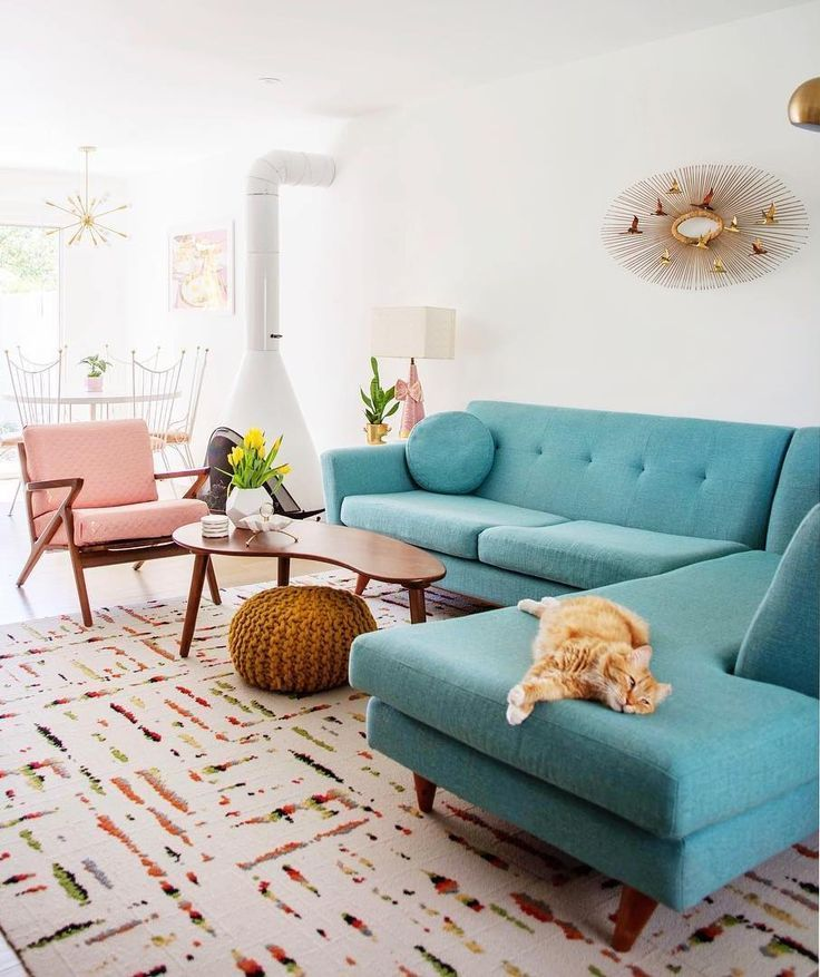 25 Fabulous Mid-Century Modern Sofas. These mid-century sofas and couches are perfect for a vintage vibe in your home. I love this teal sectional sofa in @melodrama's home!!