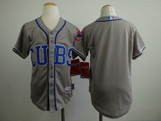 21e7ac62440 Blank Grey Alternate Road Cool Base 2016 World Series Champions Stitched  Youth MLB Jersey