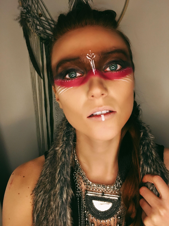 Post Apocalyptic Tribal Makeup Follow Makeuplushair On Ig Tribal Makeup Native American Makeup Warrior Makeup