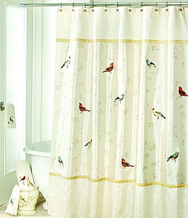 Curtains Ideas bird shower curtain : 17 Best images about bathroom on Pinterest | Old bathrooms, Yellow ...