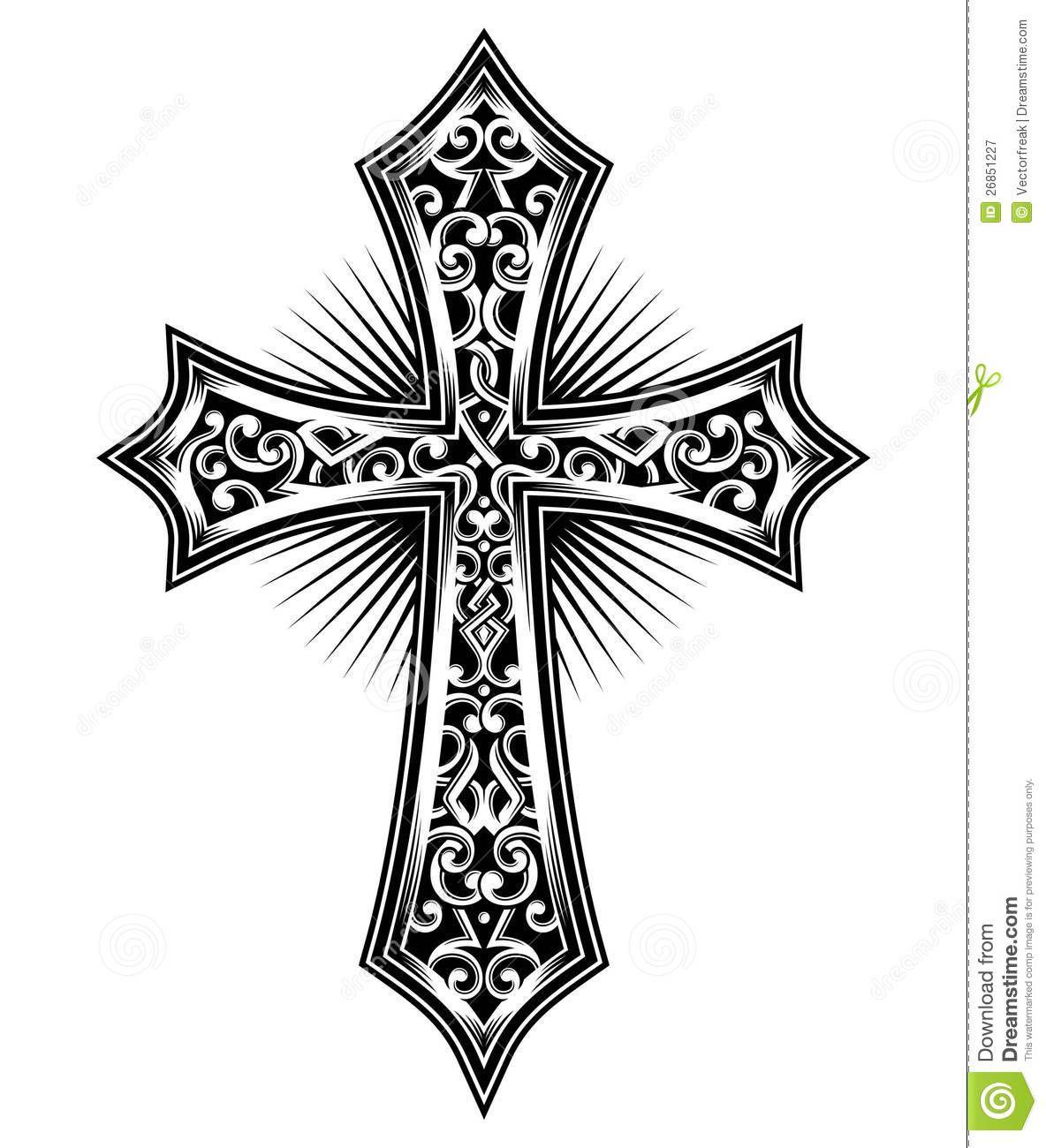 simple christian cross design