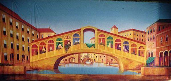 Venetian Canal and Bridge  Grosh.com