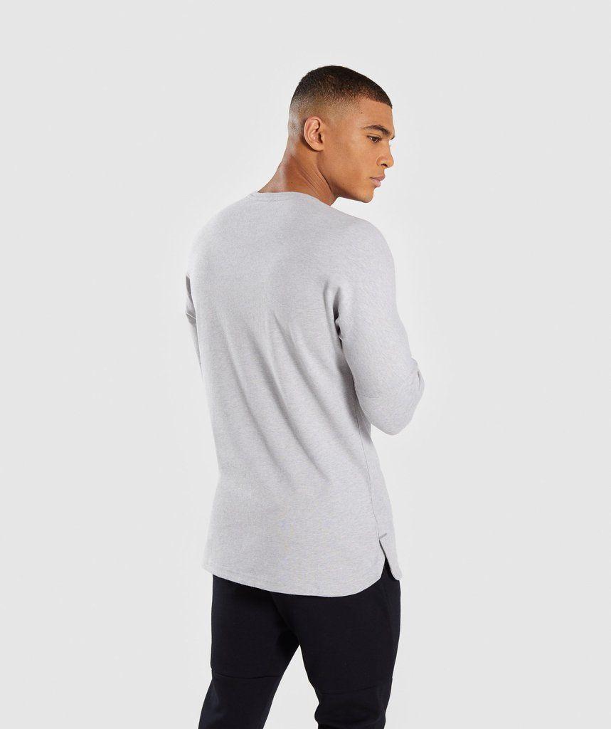 2e096bb8fd31c6 Gymshark Fresh Long Sleeve T-Shirt - Light Grey Marl 2
