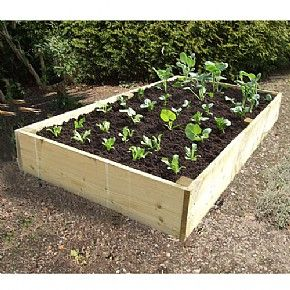 Extra Deep Wooden Raised Vegetable Bed 1.8x.0.9mtr