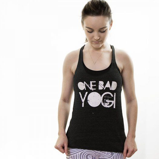 01837e9353 Crack up your yoga class in one of these cute and comfy tank tops that  feature hilarious spins on traditional yoga mantras, like