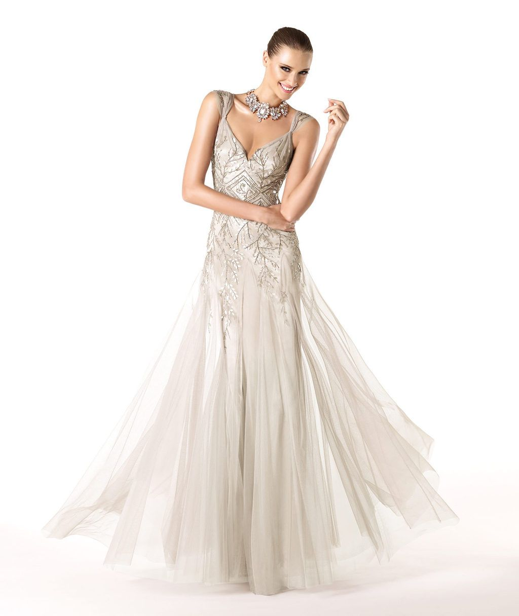 Champagne Sparkle Wedding Guest Dress By Ovias Full