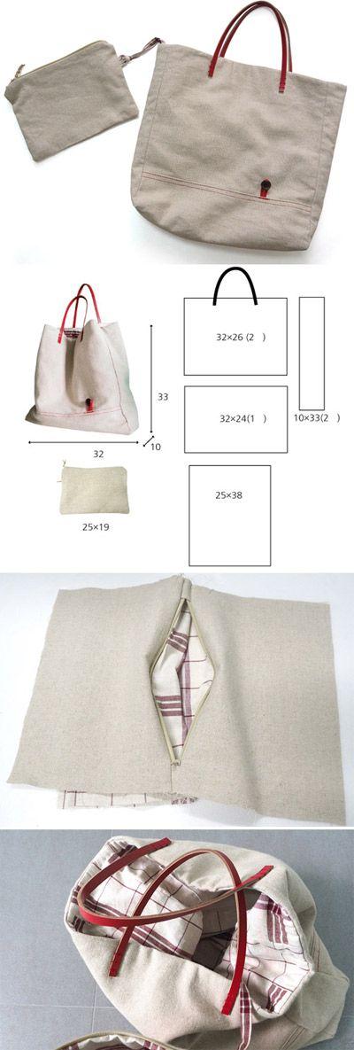 cartera con manijas de cuero | bolsos | Pinterest | Bolsos, Bolsa y ...