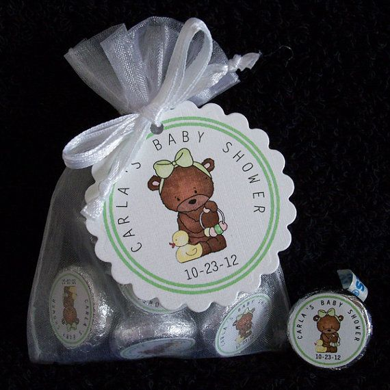 Personalized Hershey Kiss Baby Shower Favor Kit white by susiedees, $12.50
