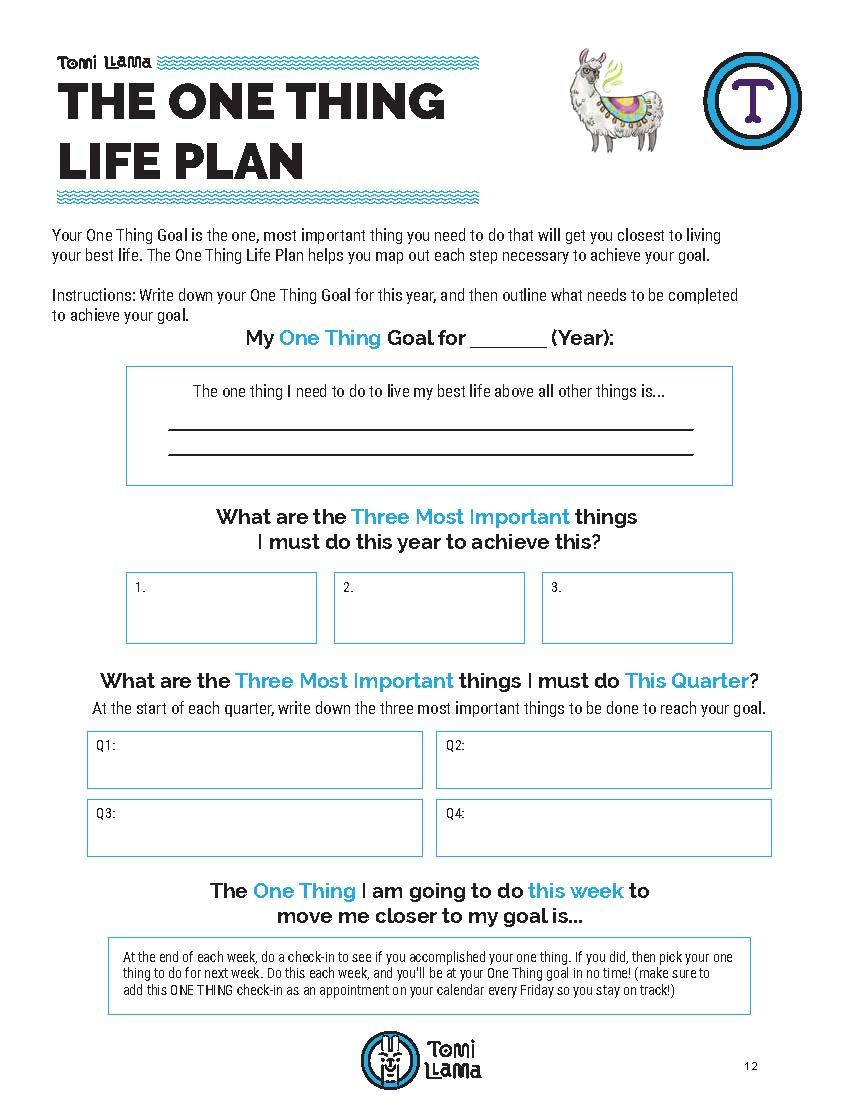 How To Make A Life Plan That Really Works Worksheet Template Tomi Llama Life Plan Life Plan Template How To Plan
