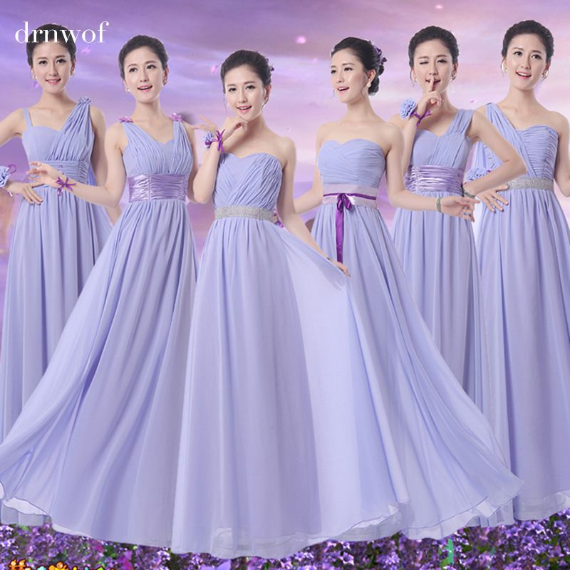 Long Cheap Bridesmaid formal dresses sister wedding bride party ...