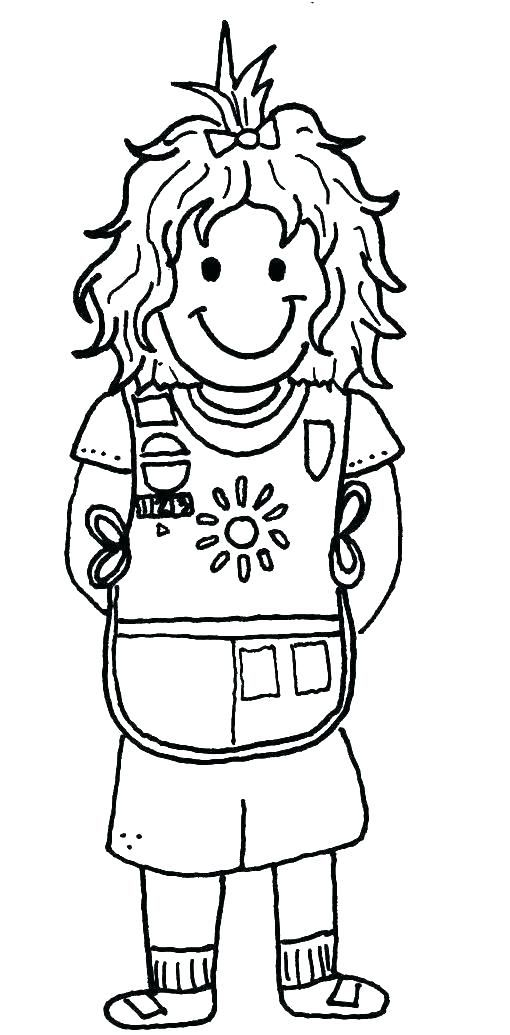 daisy girl scout coloring pages printable printable girl