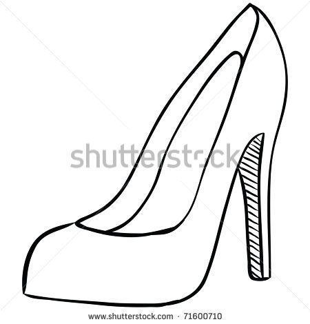 how to draw heels from the front buscar con google