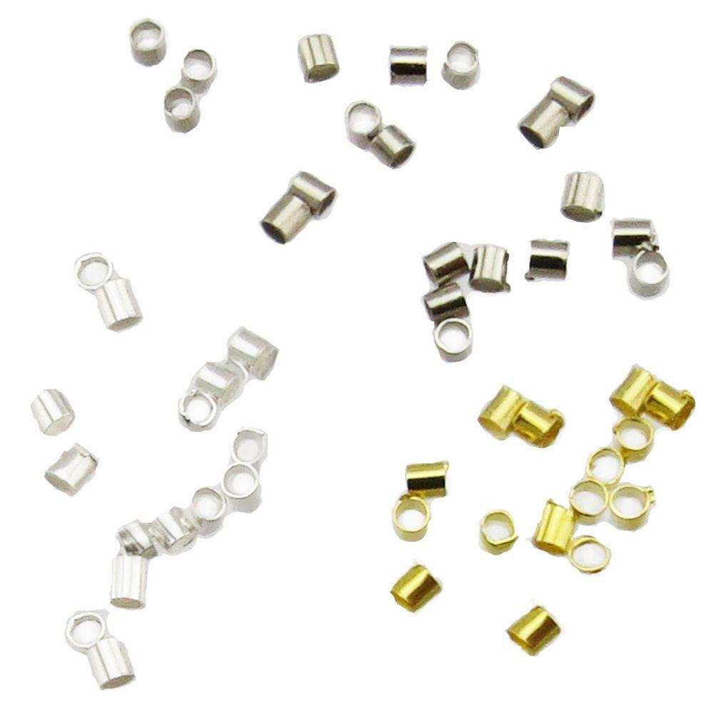 Details zu 100 Quetschröhrchen 1,5 x 2mm silber gold Röhrchen ...