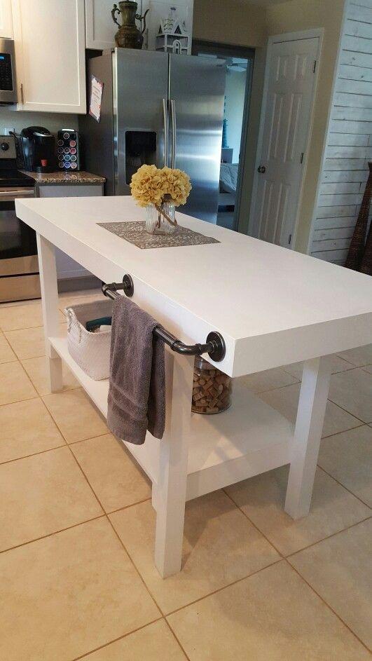 Diy Center Island Table Counter Height Diy Dining Table Ikea