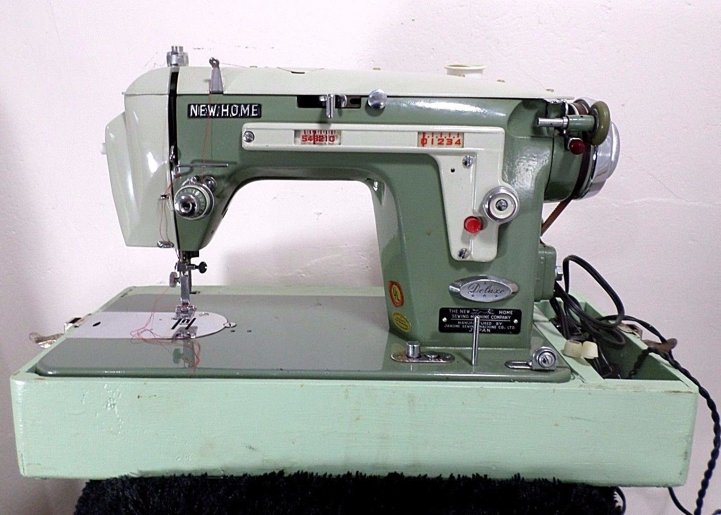 Janome New Home Deluxe Sewing Machine Model 534 Japan   eBay