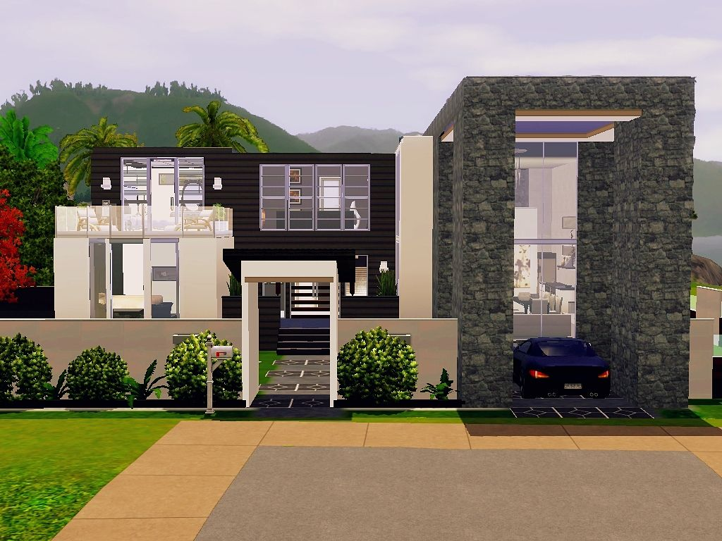 Home Design : Modern House Floor Plans Sims 3 ShabbyChic Style Medium The  Most Awesome And Gorgeous Modern House Floor Plans Sims 3 With Regard To  Fantasy
