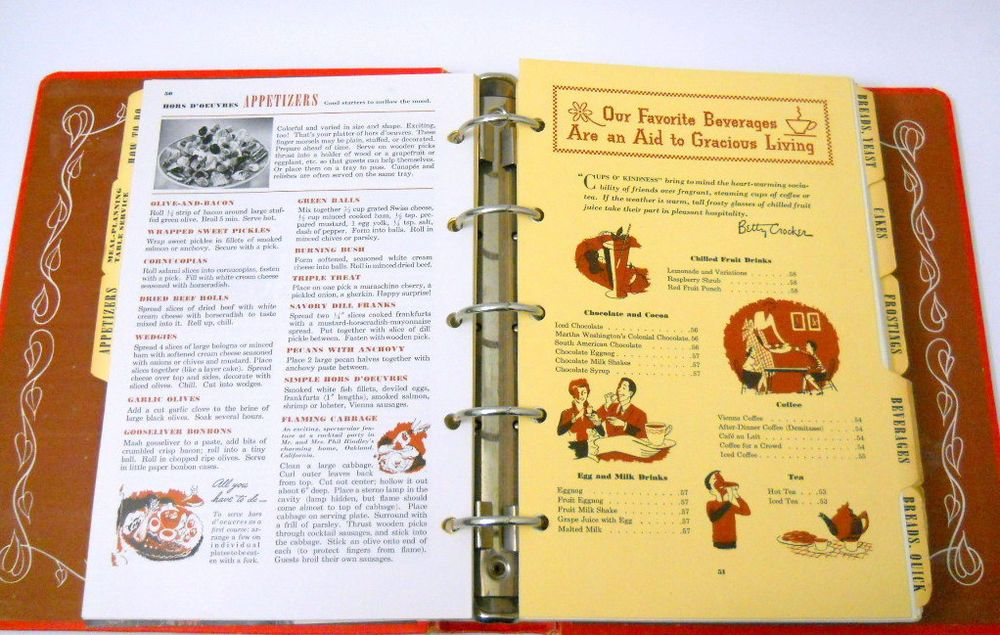 1950 1st edition betty crocker picture cookbook 5 ring