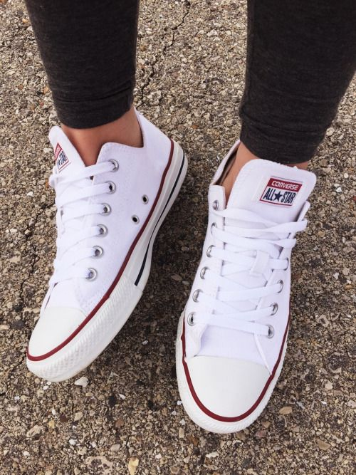 I just want a pair of white converse shoes so badly ...