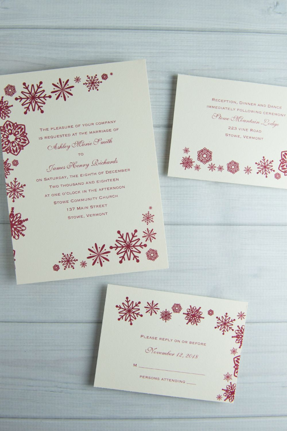 Wedding Invitations & Cakes For Cold Weather Weddings | Cold weather ...