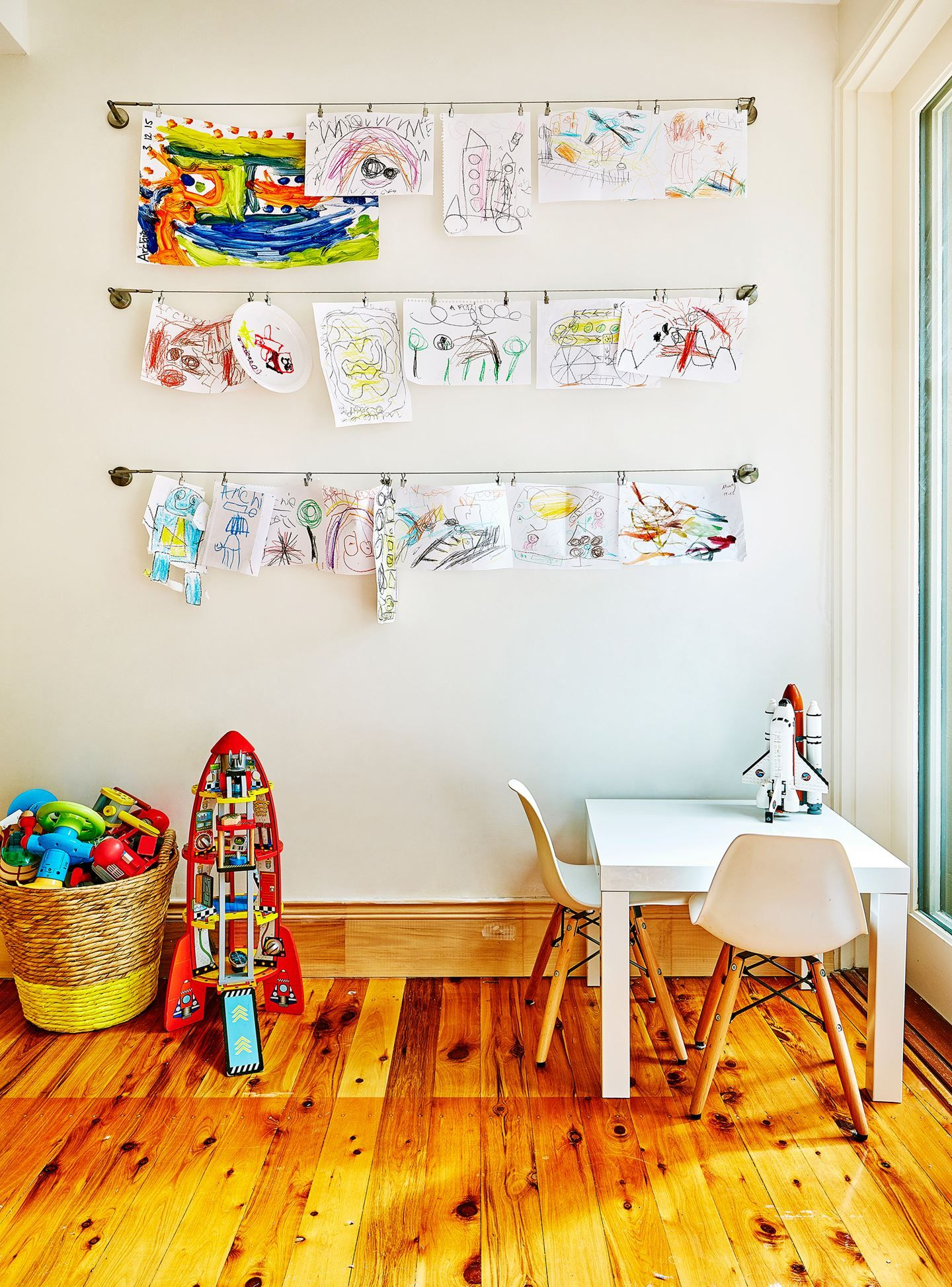 A Playful Home Bursting With Colour | Pinterest | Curtain wire ...