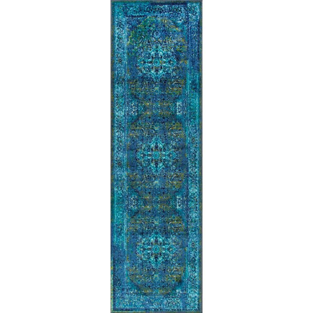 Nuloom Reiko Vintage Persian Blue 3 Ft X 8 Ft Runner Mcgz01c