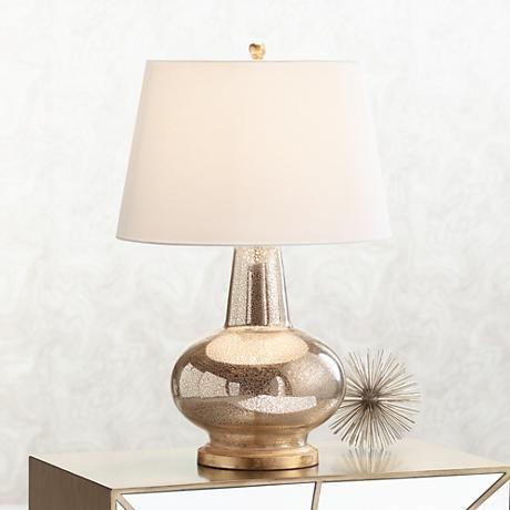 Errol Long Neck Gourd Mercury Glass Table Lamp 8h905 Lamps Plus Mercury Glass Table Lamp Glass Table Lamp Mercury Glass Lamp