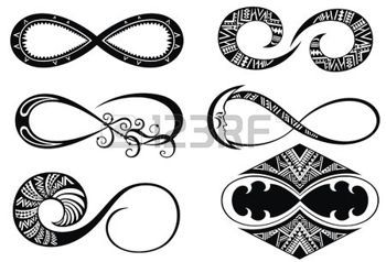 unendlichkeit: Infinity symbols Illustration