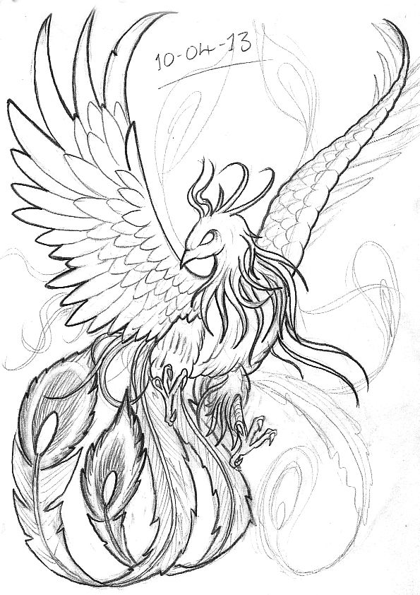 japanese phoenix drawing - Google Search | dia m | Pinterest | Fénix ...