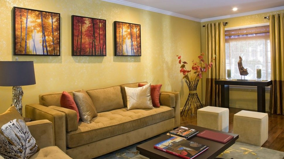 gold living room walls - Google Search | Ideas for the house ...