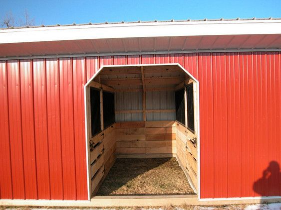 12 X 24 Horse Shed With 2 9 X 12 Stalls For The Barn Horse