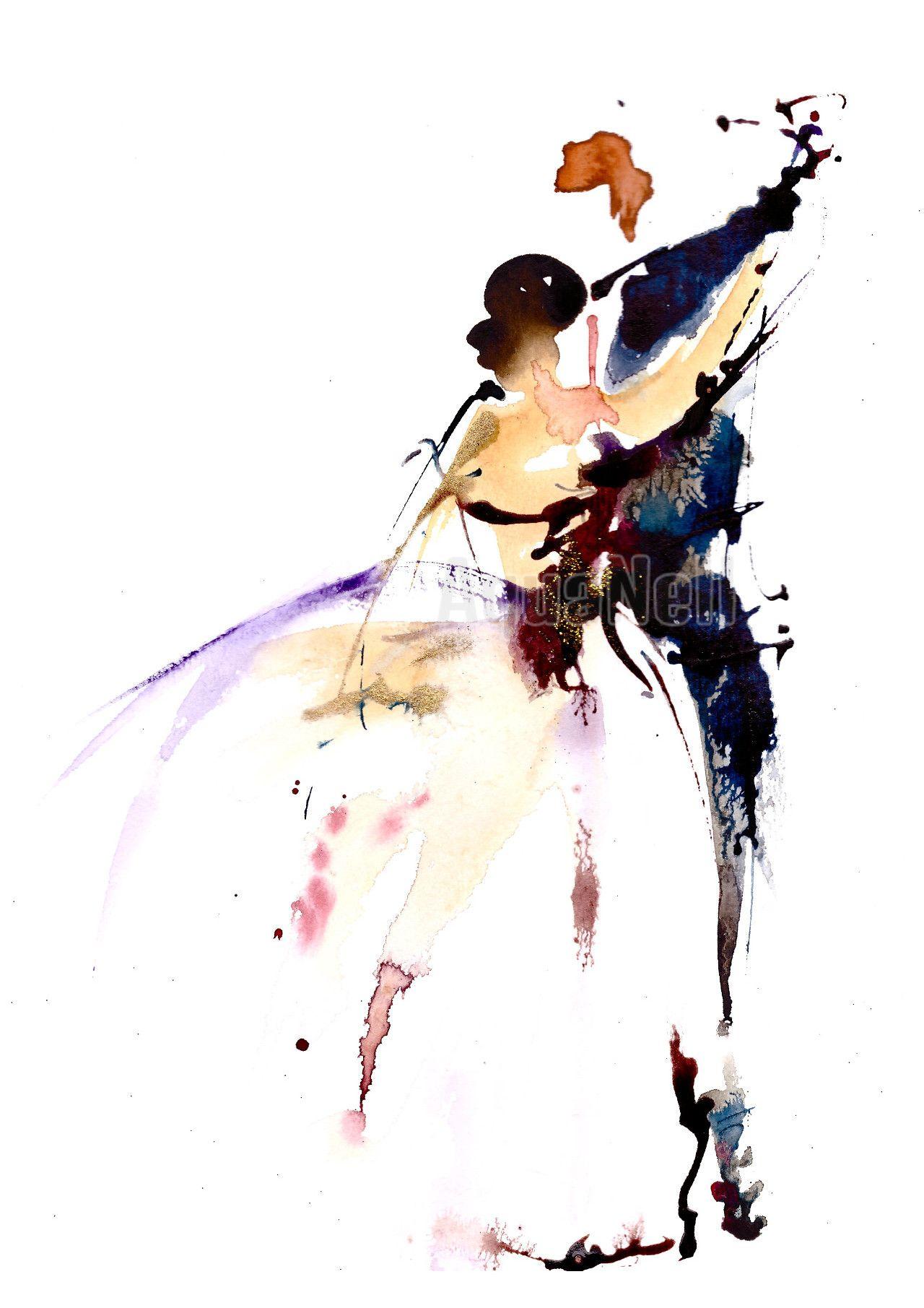 Peinture Aquarelle Mariage Pour Decorer Vos Faire Part Premiere