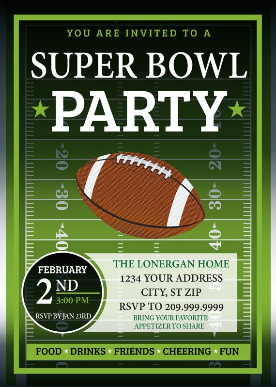 Stupendous image inside super bowl party invitations free printable
