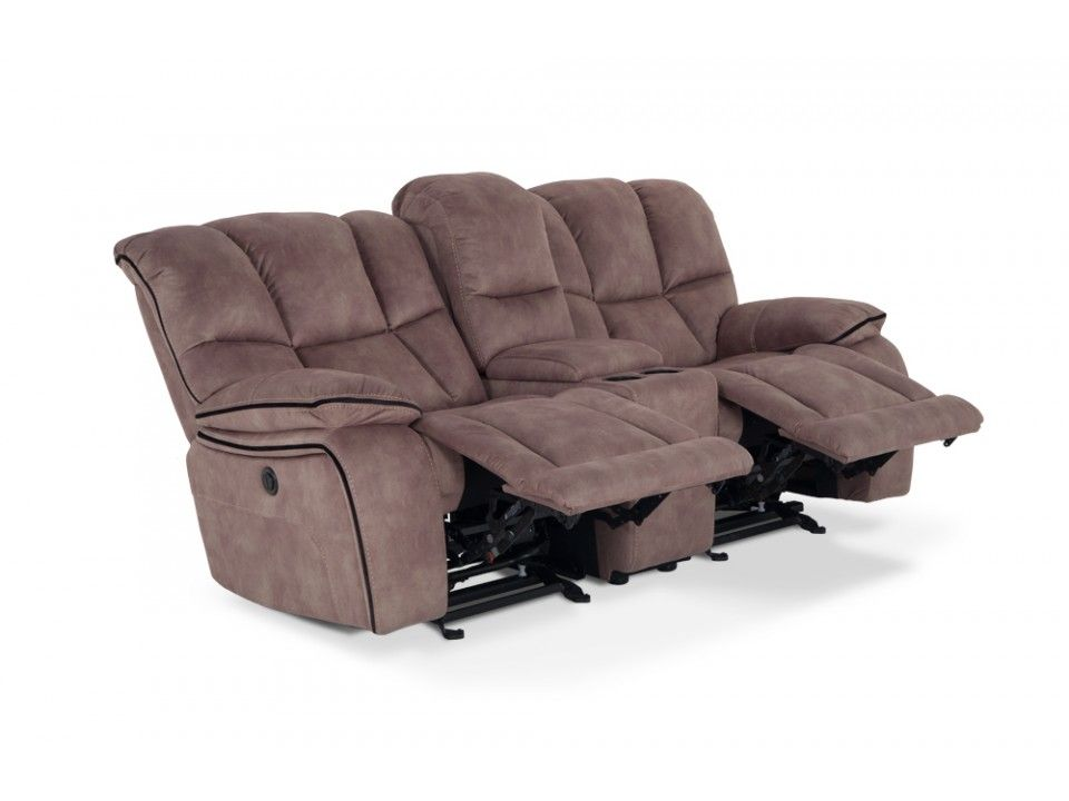 Outback Power Reclining Console Loveseat