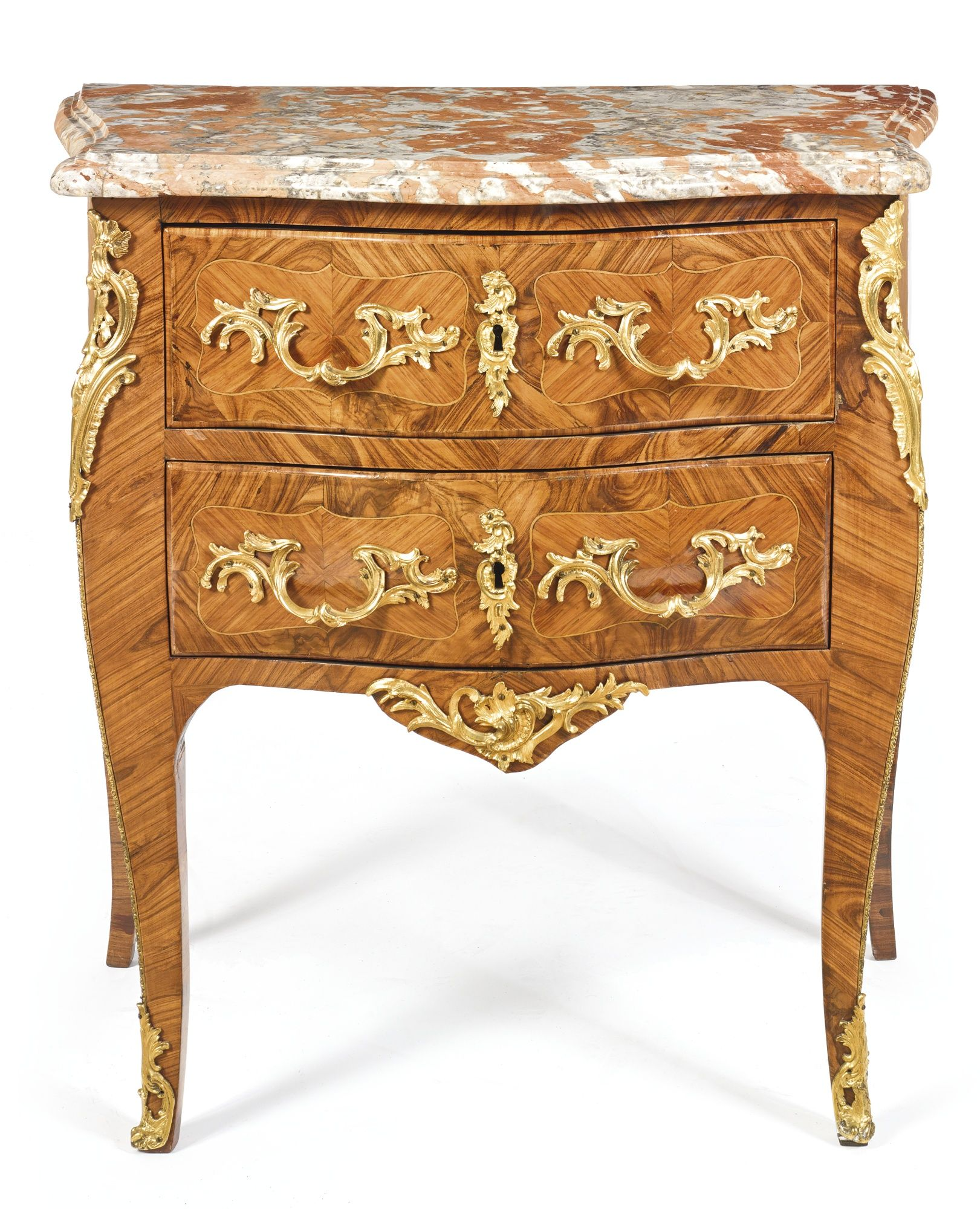 a louis xv ormolu mounted kingwood and tulipwood commode. Black Bedroom Furniture Sets. Home Design Ideas