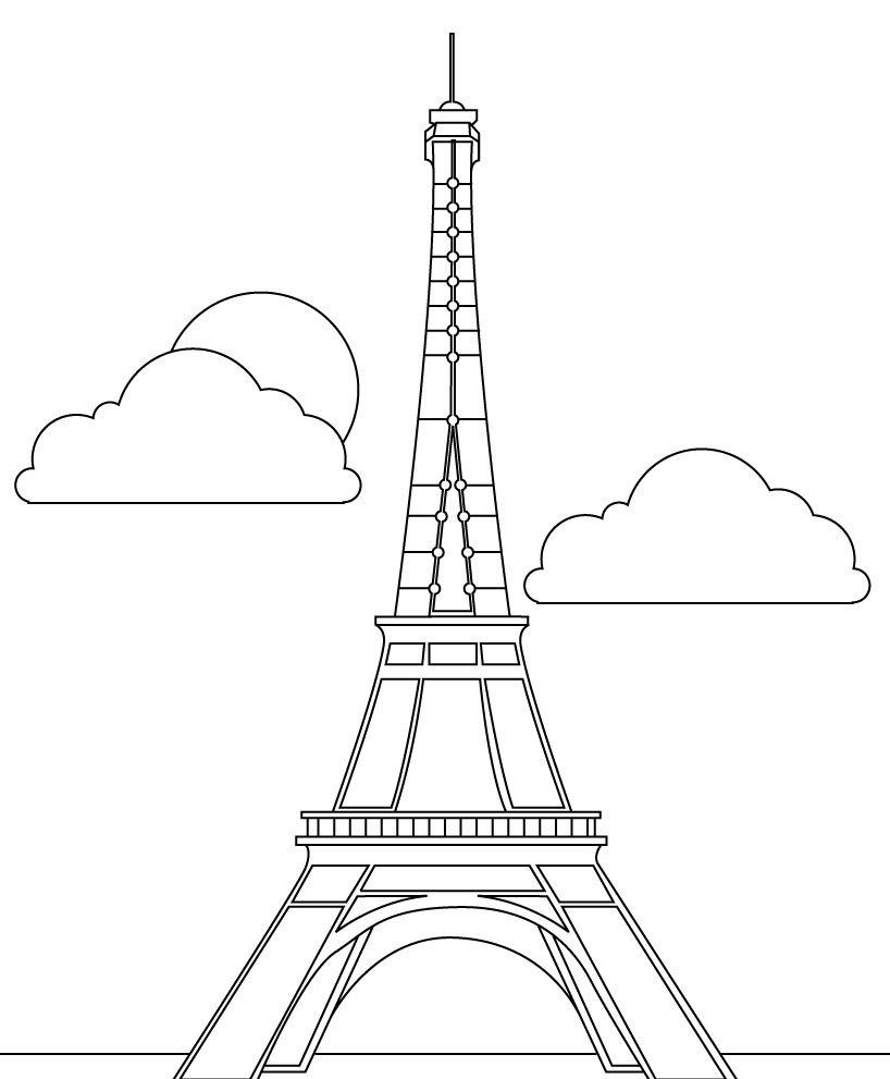 Eiffel tower coloring pages 18231892731927312 ...