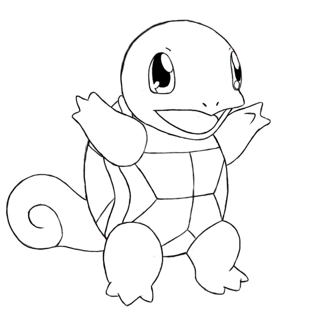 Squirtle Coloring Pages Pokemon Coloring Pages Pokemon Sketch