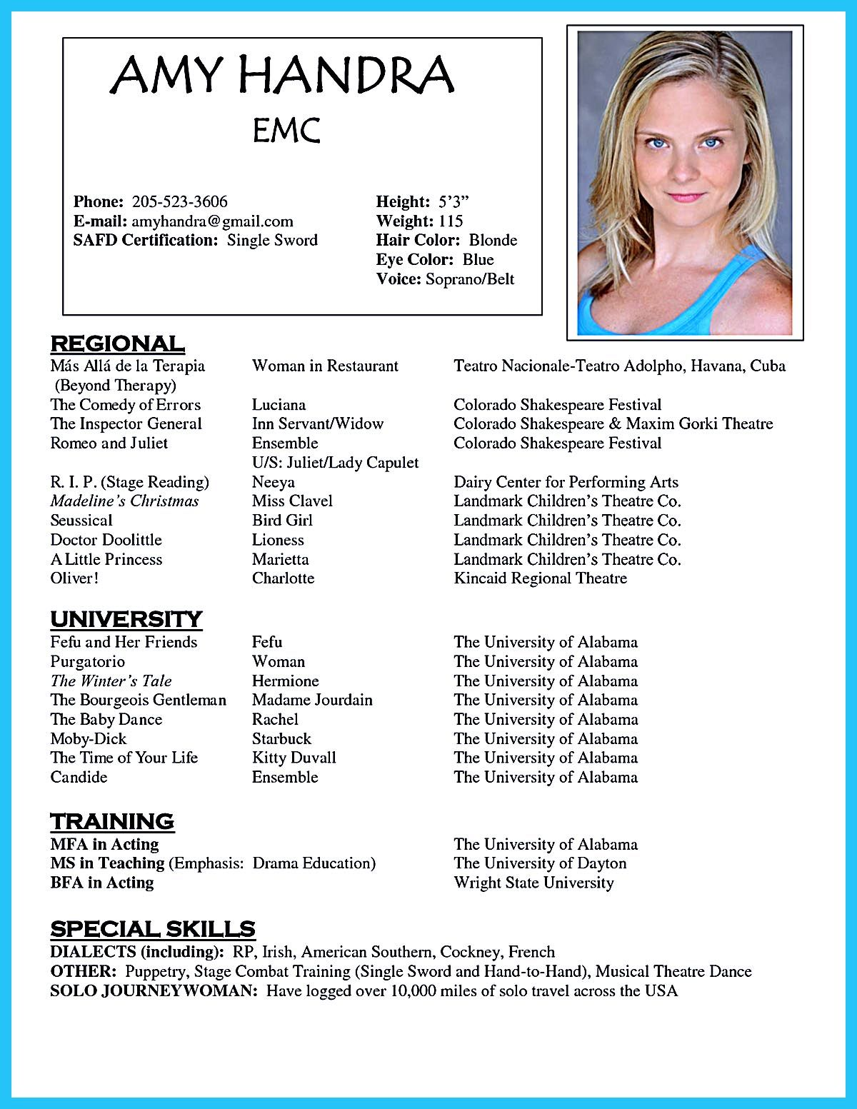 Acting Resume Template Is Very Useful For You Who Are Now Seeking A Job In Acting The Acting Resume Template Acting Resume Template Acting Resume Dance Resume