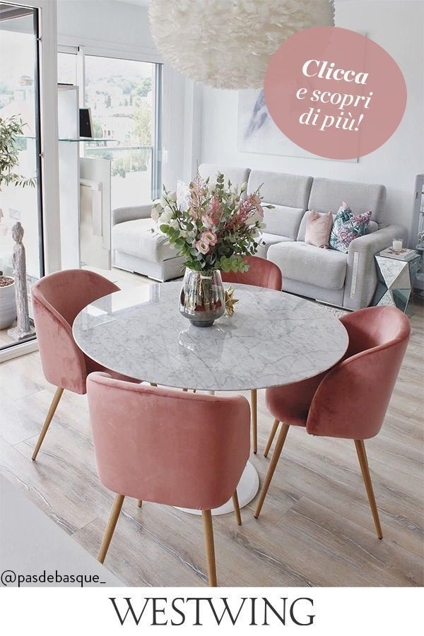 Una Sala da Pranzo Rosa