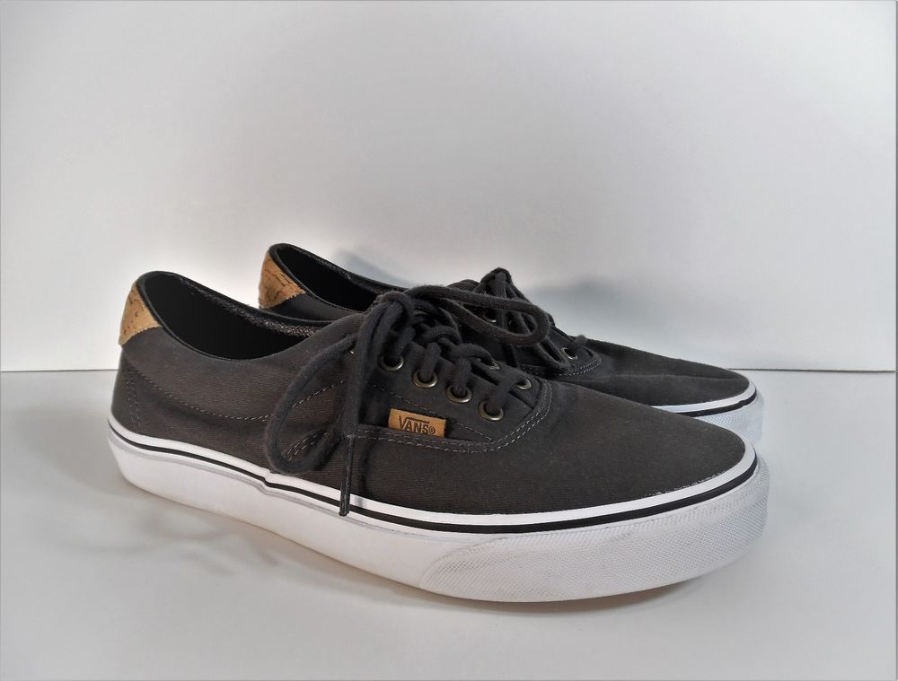 Vans ERA 59 Cork Twill Dark Shadow Dark Gray Canvas Casual Skate Shoes US  9.5  VANS  Skateboarding 425803214b