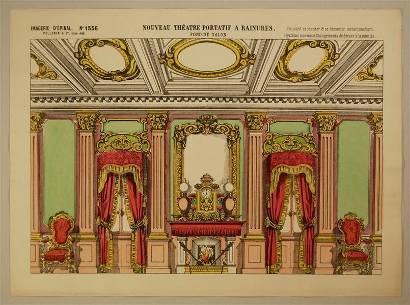 Imagerie depinal 1556 no nouveau théâtre portatif a rainures fond de