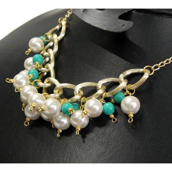 Collares de moda con perlas