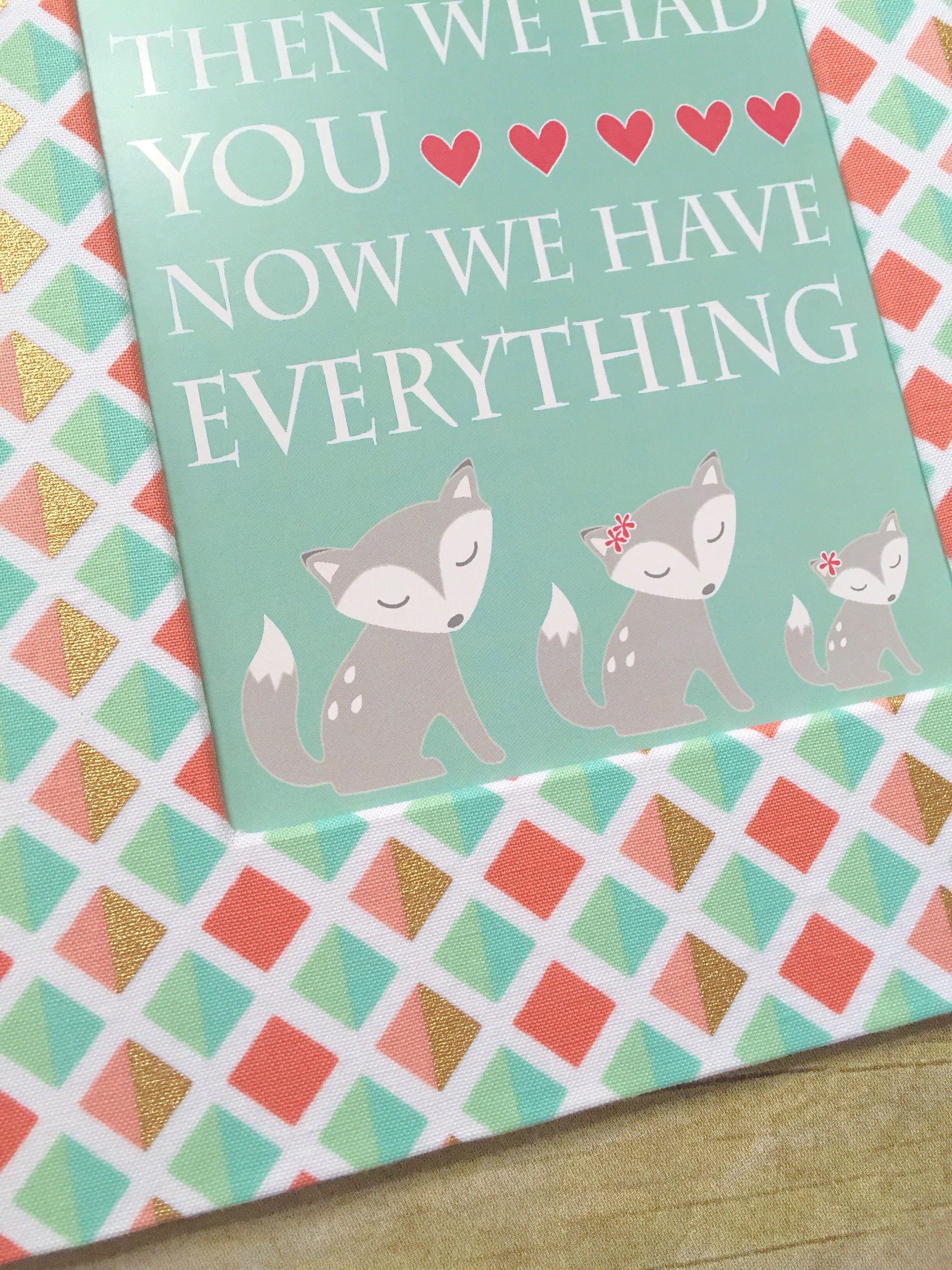 Baby Girl Fox Nursery Print Girl Woodland Nursery Decor