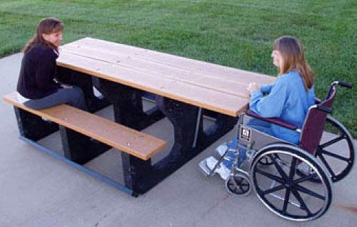 Picnic tables should be enjoyed by everyone, including those with disabilities. Here is some information on ADA picnic tables.