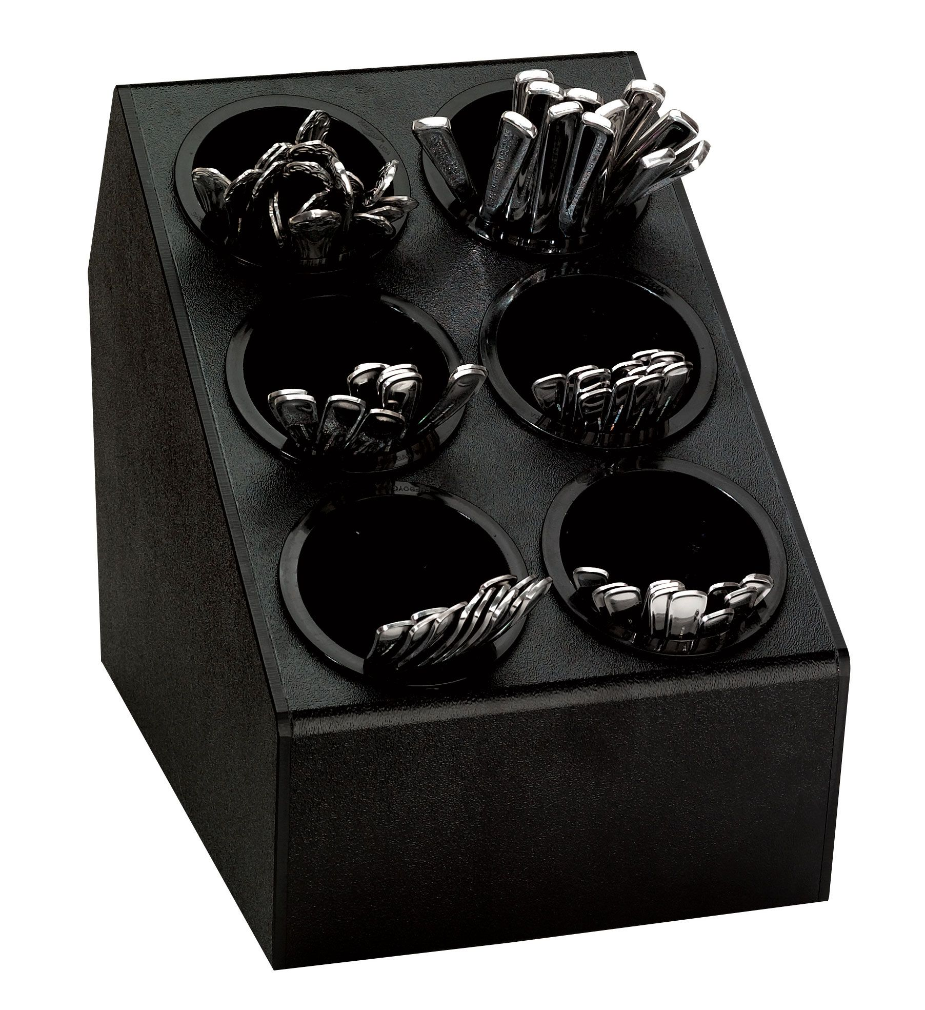 Tiered Plastic Silverware Holder 6 Bins Black In 2020 Silverware Organization Plastic Silverware Utensil Organization