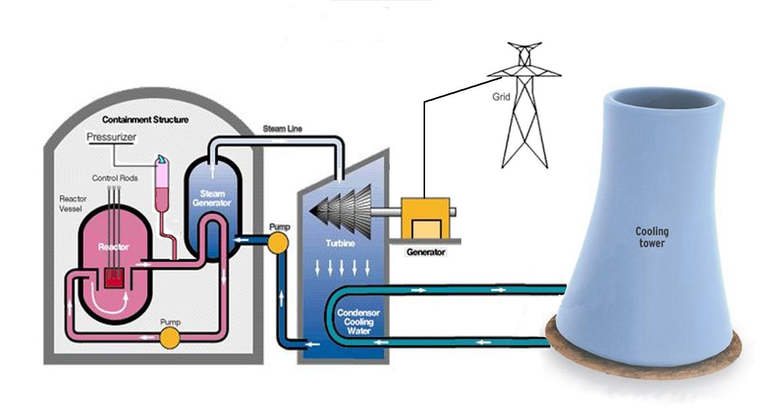 Nuclear power plant different components of nuclear power nuclear energy pooptronica