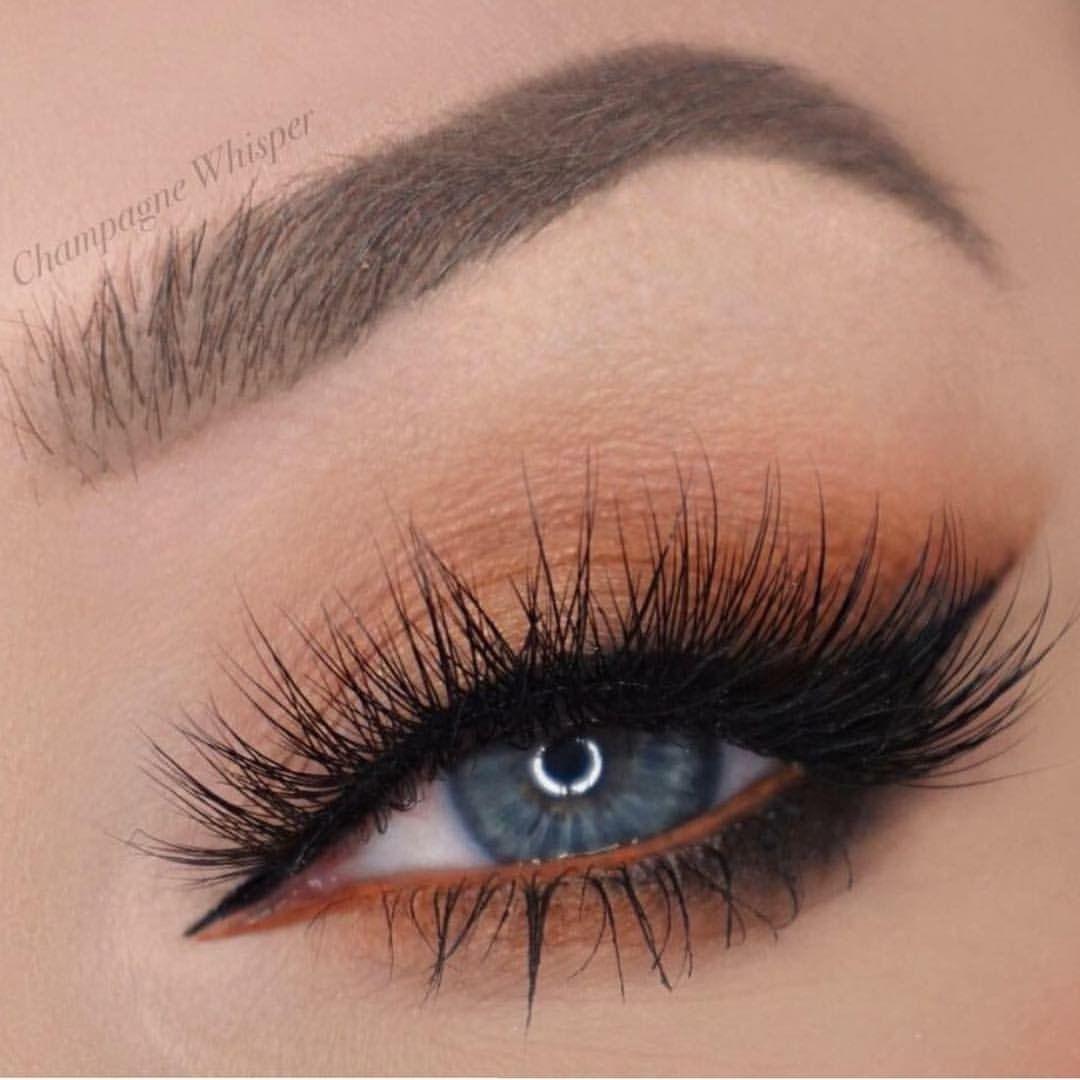 burnt orange Smokey eye look | Orange eye makeup, Makeup
