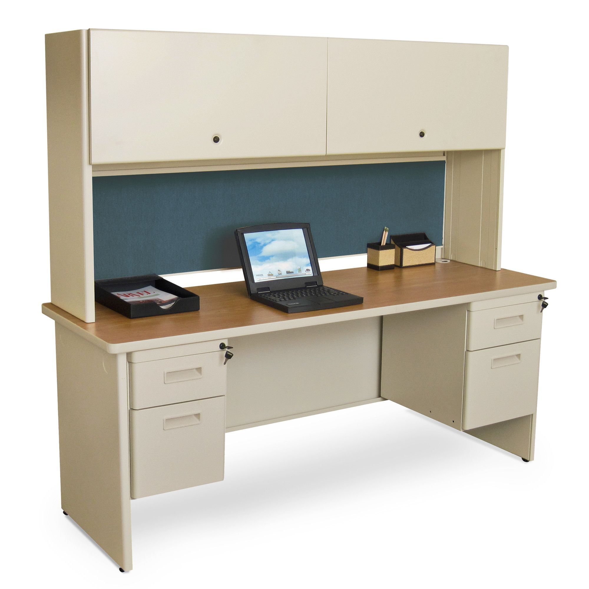Executive office table with glass top pronto executive desk with lock  products  pinterest  desks and locks
