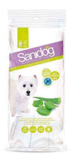 Sanidog Essential Aloe Vera Wipes Pet Care Pets Pet Home