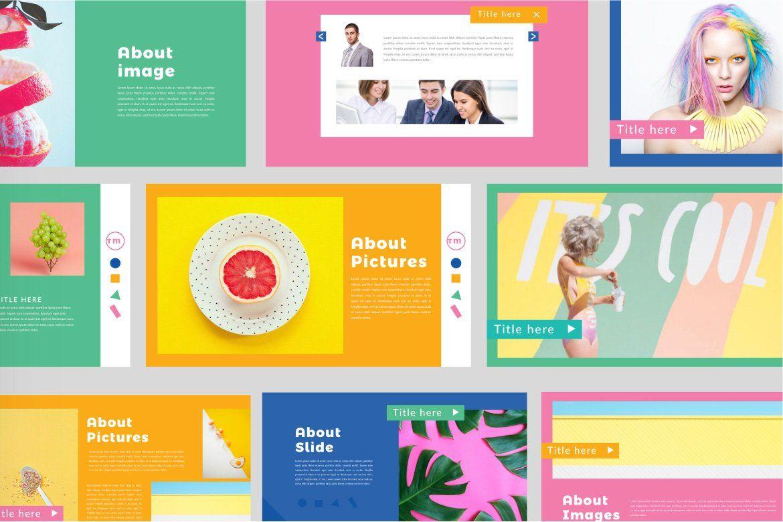 Color Fun Powerpoint Powerpoint Presentation Design Keynote Design Powerpoint Design Templates