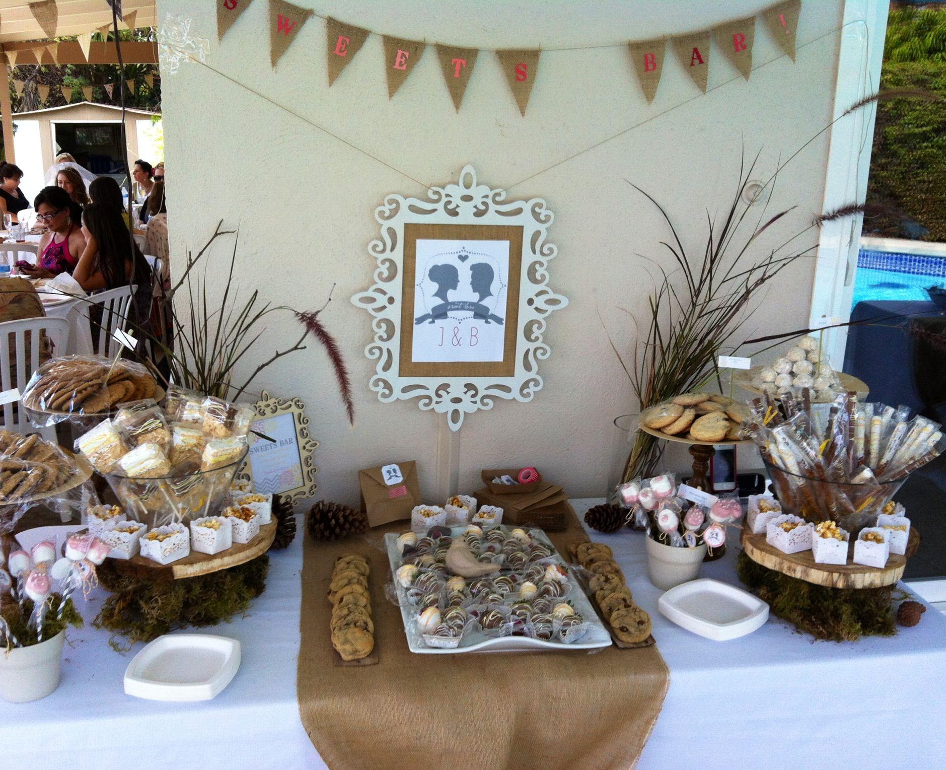 Rustic Bridal Shower Dessert table Bridal Shower